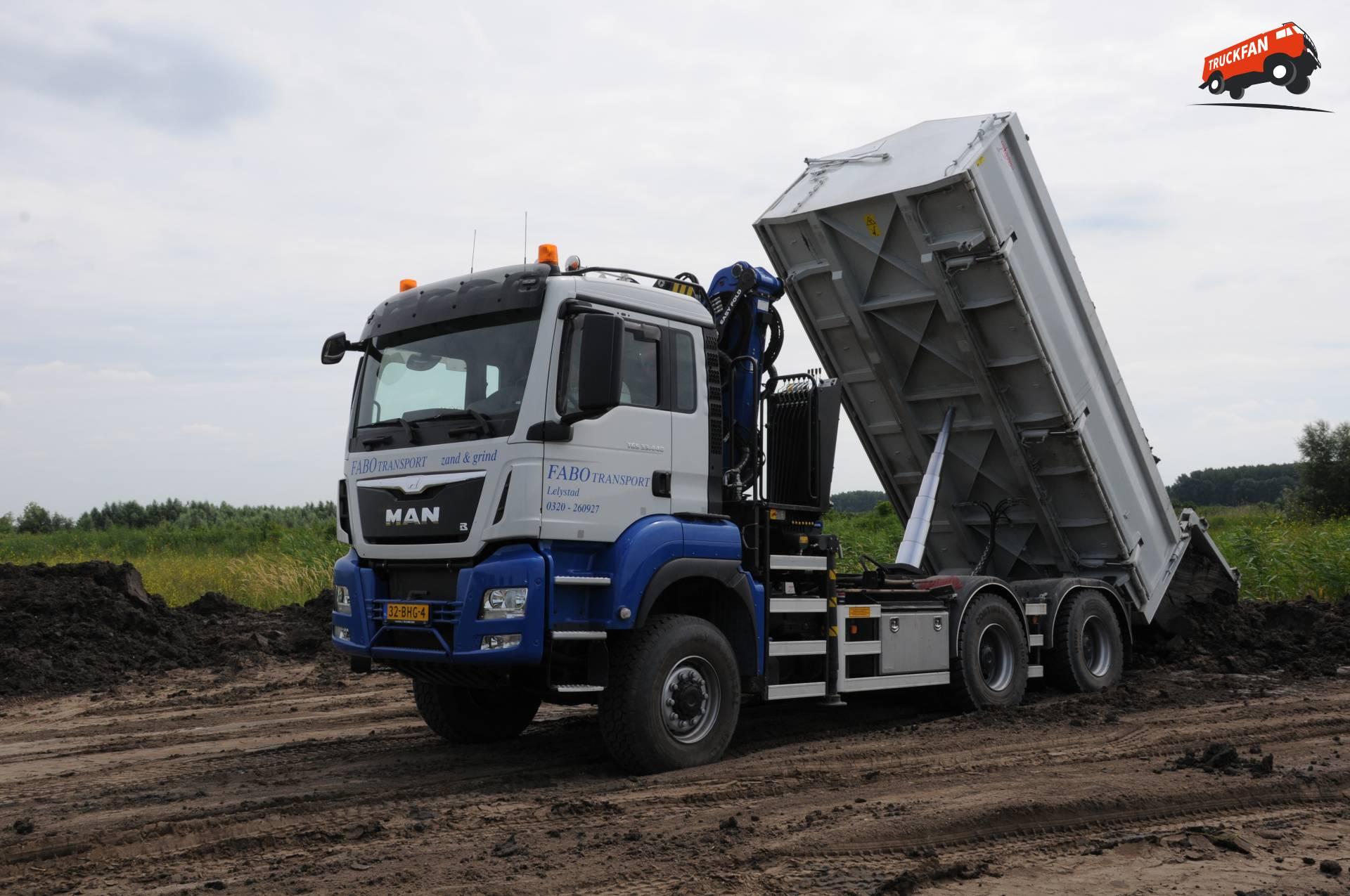 Man tgs 6x6 ws voor fabo alex miedema for Vrachtwagen kipper met kraan