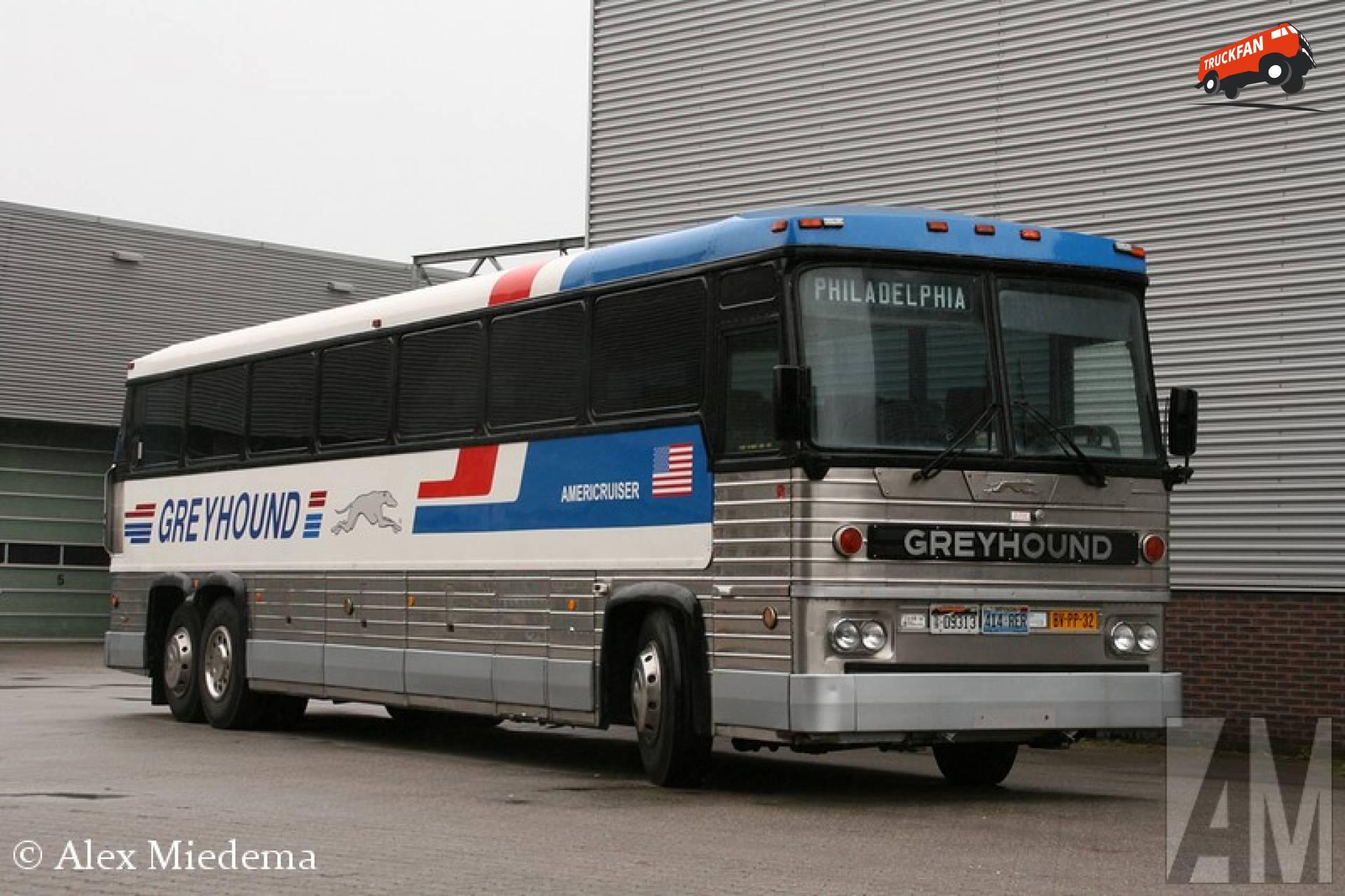 MCI Greyhound bus