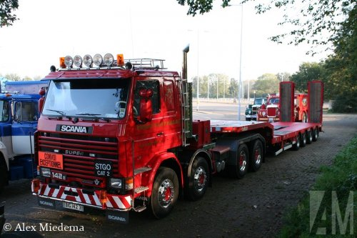 Beers SCANIA RE 8X4 ZS 140180, foto van Alex Miedema