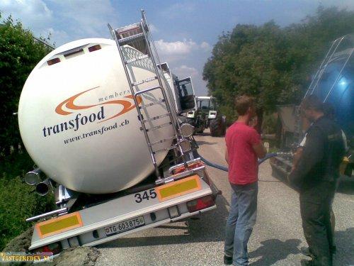 Renault Magnum (vrachtwagen), foto van vastgereden