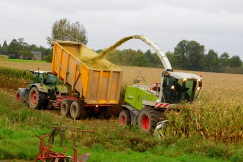 Claas Jaguar 870 Greeneye, foto van Martin Holland