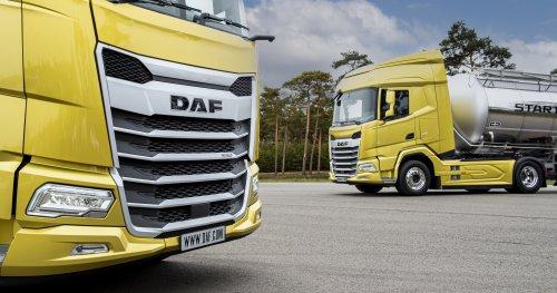 DAF meerdere, foto van Truckfan Nieuwsposter