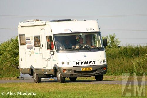 Hymer camper, foto van Alex Miedema