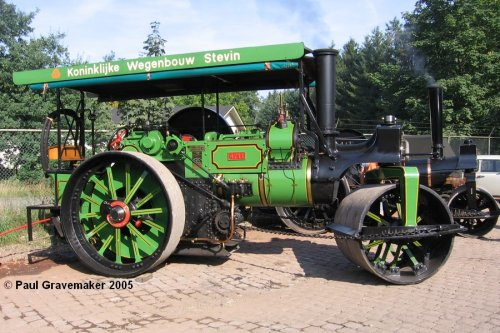 Aveling & Porter stoomwals (vrachtwagen), foto van Paul Gravemaker