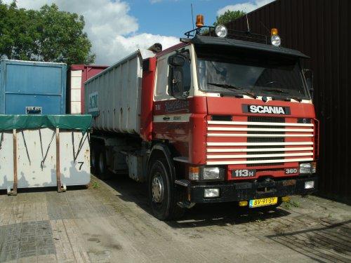 Scania 113, foto van gekke drent