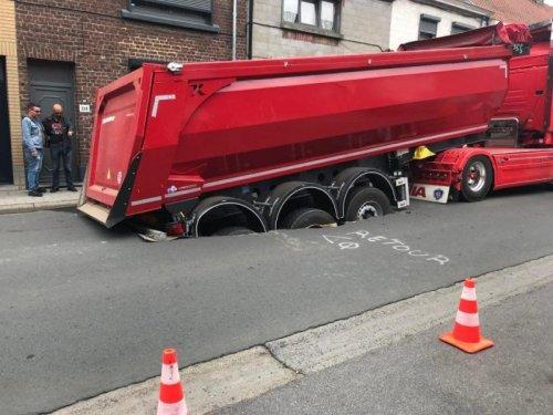 Scania onbekend/overig, foto van vastgereden