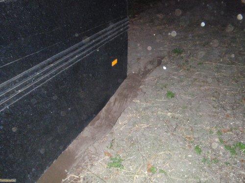 Spijkstaal folder, foto van vastgereden