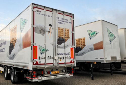 Talson oplegger, foto van Truckfan Nieuwsposter