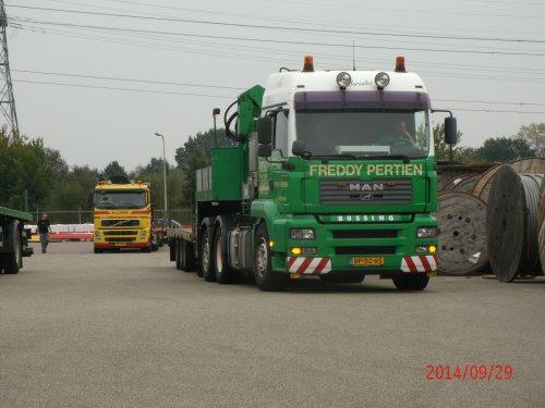 vrachtwagen M.A.N., foto van gekke drent