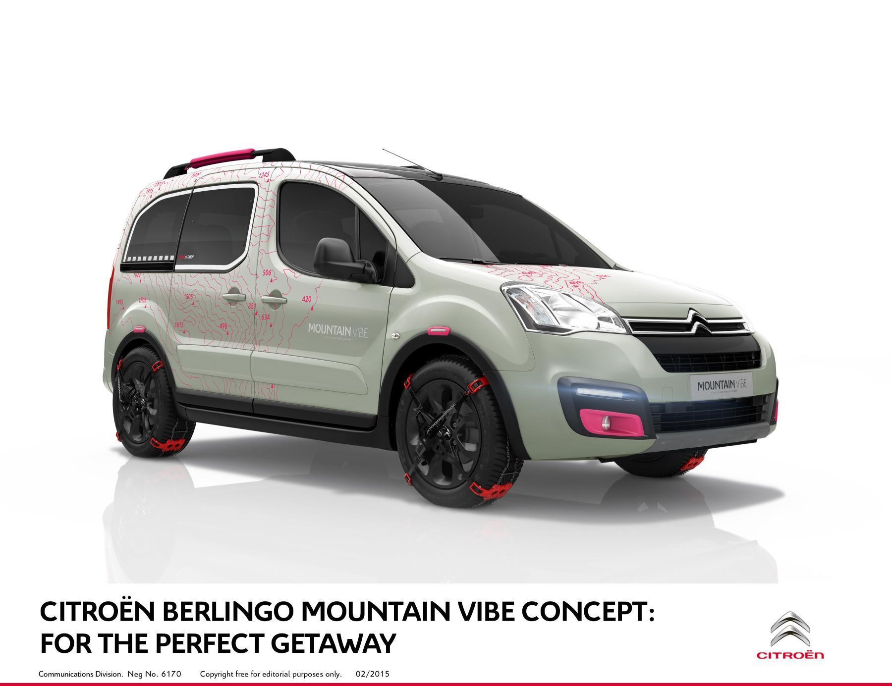 Citroën Berlingo Mountain Vibe Concept Met de Berlingo Mountain Vibe richt Citroën zich op de wintersporters. Dit wordt bereikt door een bijzonder uiterlijk ontwerp, dat kan ik tot in detail vertellen, maar dat kunnen jullie zelf ook wel op de foto zien. Wat daar niet zo goed te zien is, is het interieur. Zowel de voorstoelen als de tweede zitrij, die uit drie afzonderlijke stoelen bestaat, zijn uitgerust met een grijze slijtvaste stof. Het dak is van glas, zodat de passagiers extra goed zicht op de bergen om zich heen hebben. Met de Berlingo Mountain Vibe richt Citroën zich op de wintersporters. Dit wordt bereikt door een bijzonder uiterlijk ontwerp, dat kan ik tot in detail vertellen, maar dat kunnen jullie zelf ook wel op de foto zien. Wat daar niet zo goed te zien is, is het interieur. Zowel de voorstoelen als de tweede zitrij, die uit drie afzonderlijke stoelen bestaat, zijn uitgerust met een grijze slijtvaste stof. Het dak is van glas, zodat de passagiers extra goed zicht op de bergen om zich heen hebben. Met de Berlingo Mountain Vibe richt Citroën zich op de wintersporters. Dit wordt bereikt door een bijzonder uiterlijk ontwerp, dat kan ik tot in detail vertellen, maar dat kunnen jullie zelf ook wel op de foto zien. Wat daar niet zo goed te zien is, is het interieur. Zowel de voorstoelen als de tweede zitrij, die uit drie afzonderlijke stoelen bestaat, zijn uitgerust met een grijze slijtvaste stof. Het dak is van glas, zodat de passagiers extra goed zicht op de bergen om zich heen hebben. Met de Berlingo Mountain Vibe richt Citroën zich op de wintersporters. Dit wordt bereikt door een bijzonder uiterlijk ontwerp, dat kan ik tot in detail vertellen, maar dat kunnen jullie zelf ook wel op de foto zien. Wat daar niet zo goed te zien is, is het interieur. Zowel de voorstoelen als de tweede zitrij, die uit drie afzonderlijke stoelen bestaat, zijn uitgerust met een grijze slijtvaste stof. Het dak is van glas, zodat de passagiers extra goed zicht op de bergen om zic