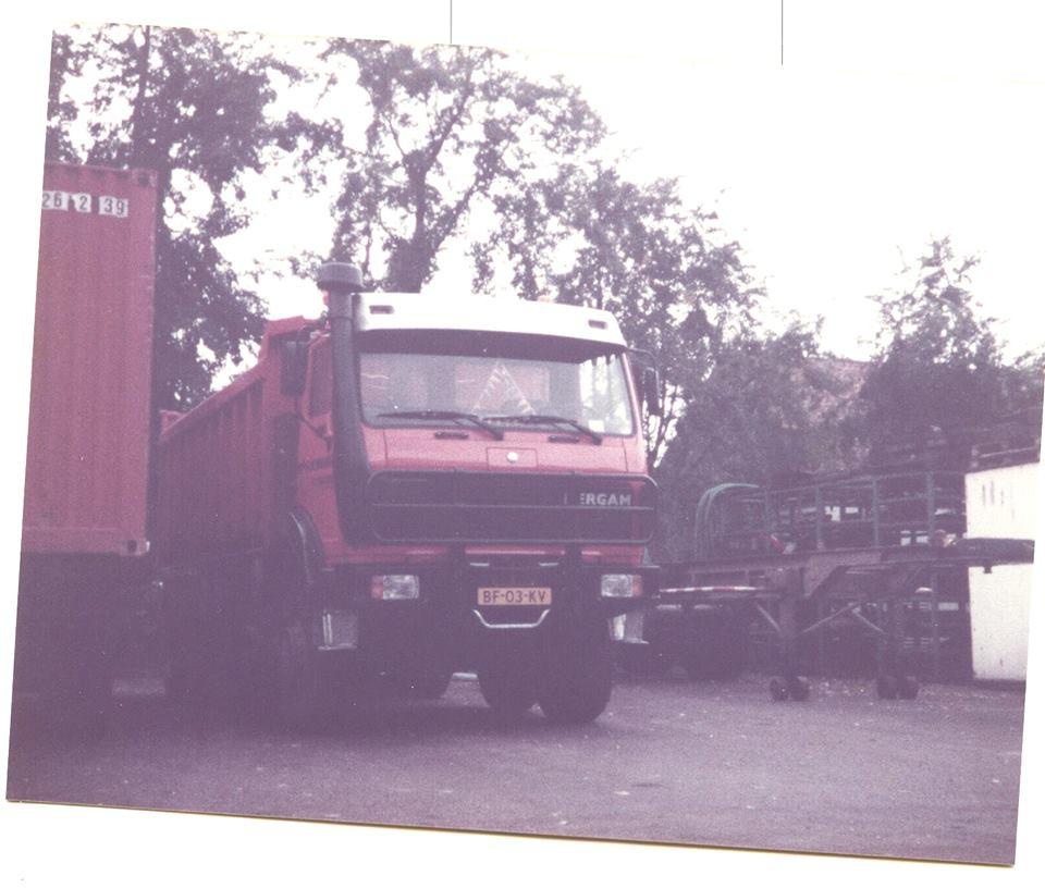 Mebouwde haar eerste truck in 1981. De naam was een samenvoeging van Mercedes en Van Gorp's Automobiel Maatschappij (GAM), de Mercedes-Benz dealer voor regio Rotterdam destijds. De basis was een Mercedes-Benz 2632AK 6x6 chassis. Deze werd door Contar verlengd en een as bij geplaatst, waarna hij bij Van Gorp afgebwoud werd. Waarschijnlijk zijn er maar drie stuks gebouwd. In 1983 kwam Mercedes-Benz zelf met vierassers voor de Nederlandse markt, bij NAW (voormalige Saurer fabriek) in Zwitserland gebouwd, daarmee was dergam 8x6